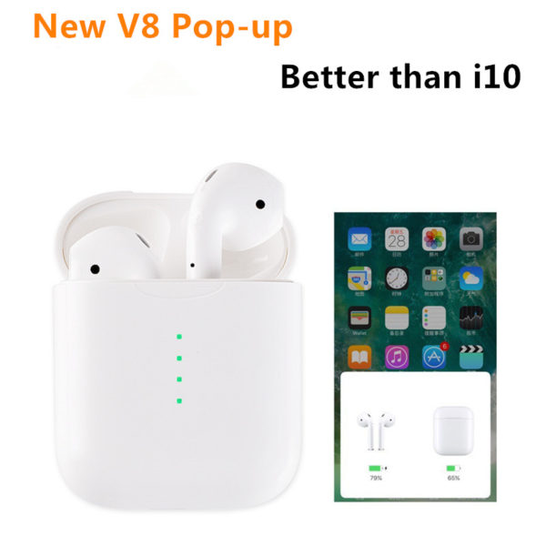 ALITACT V8 TWS Pop up Wireless Bluetooth Ear Earbuds PK w1 chip LK TE9 Earphone pods
