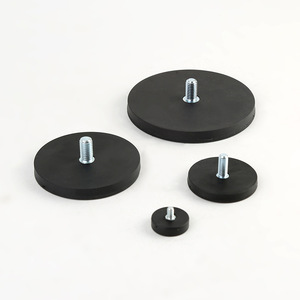 D43mm rubber coated neodymium pot magnet