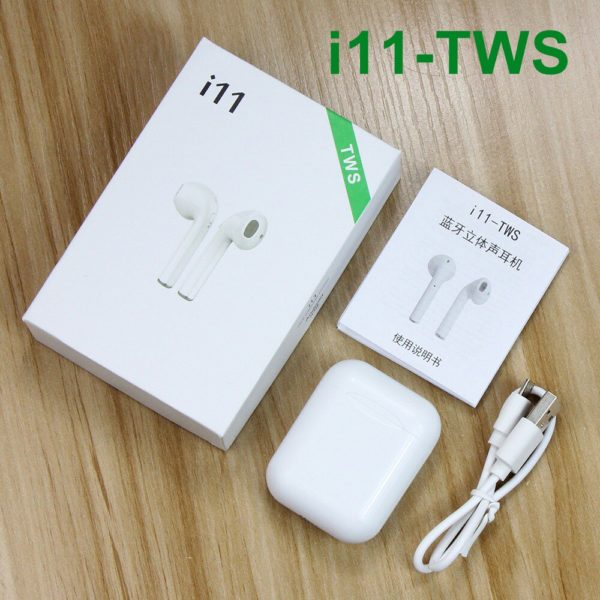 i11 TWS Bluetooth 5 0 Headset Wireless Earphones mini Earbuds stereo sport earphone With Mic For