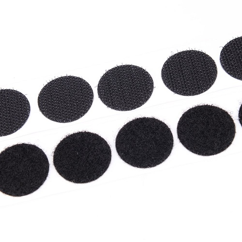 self adhesive hook loop dots coins black 0152 0250 f