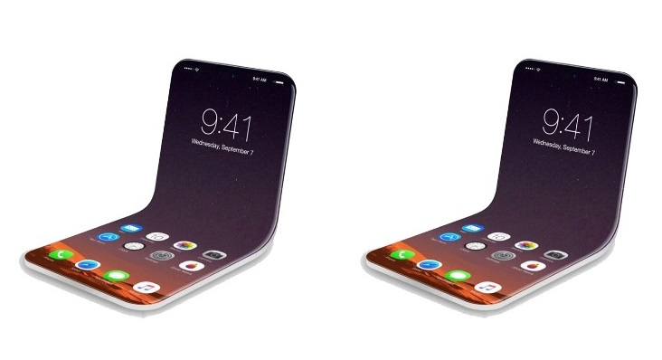 apple patent reveals foldable flip phone display that opens and closes just like a book