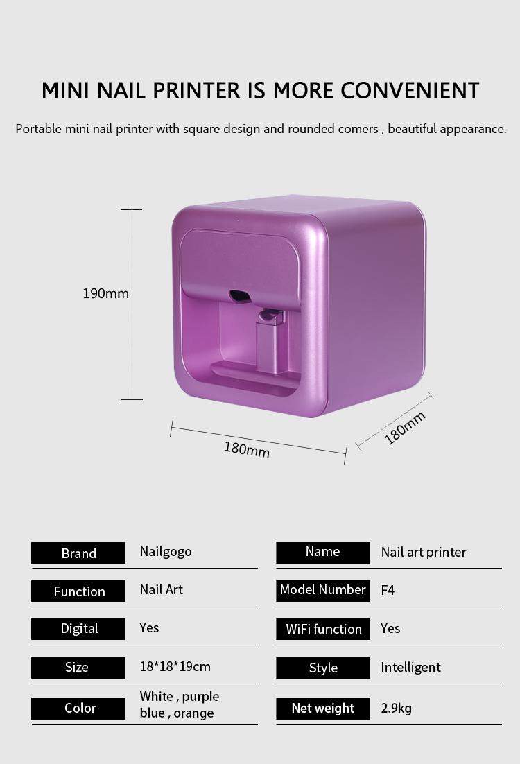 ابعاد کوچک این دستگاه پریرینتر ناخن اجازه حمل ان به هر جایی را داده و شکل و شمایل زیبایی را به دستگاه بخشیده است.