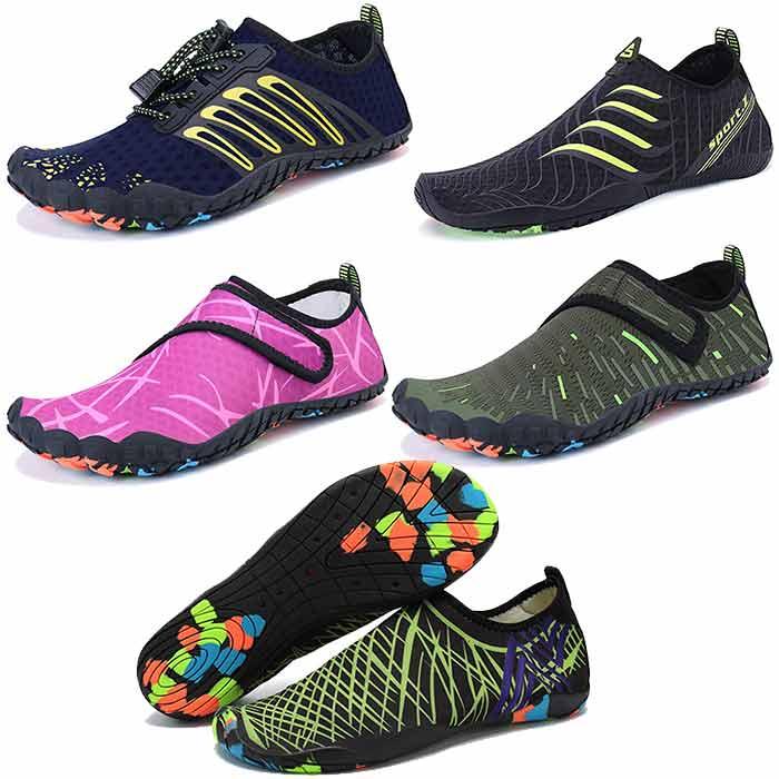 کفش های ورزشی آبی از جمله کالاهایی هستند که کسی تا زمانی که آن را نفهمد متوجه نمی شود که به آنها احتیاج داشته باشد. شما می توانید این محصولات را بصورت عمده از یک تولید کننده چینی سفارش دهید که طرح ها ، رنگ ها و اندازه های مختلفی را برای مردان ، زنان و کودکان به شما ارائه دهد. این محصول یک روند در حال توسعه در بین مشتریان است و برای فروش در ابتدای تابستان بسیار عالی است./واردات